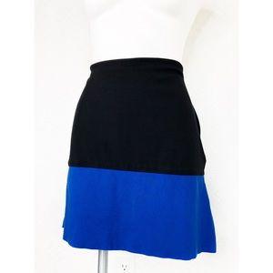 💜Ann Taylor Black & Royal Blue Mini Skirt